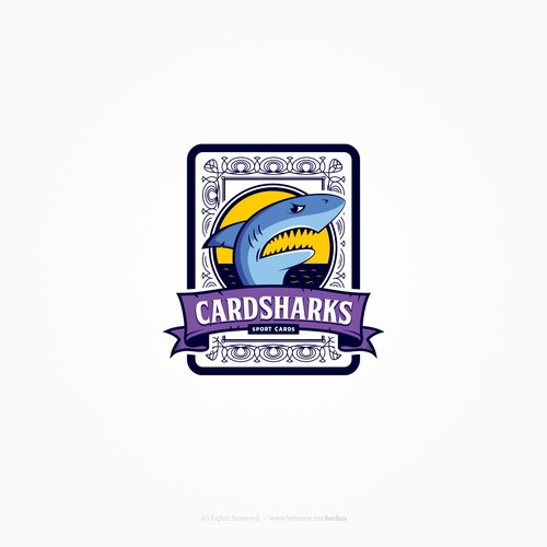 Logo concept for a sport trading card company
