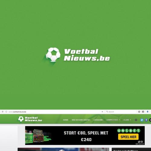 Voetbal Nieuws.be Logo Design