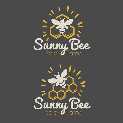 Logo pour une ferme solaire, miel et énergie