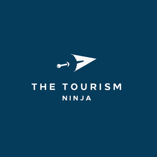 Negative space logo style for The Tourism Ninja