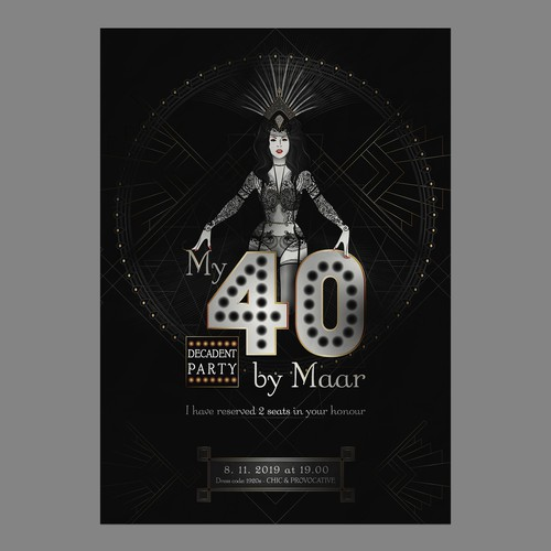 Decadent 1920s Cabaret Poster