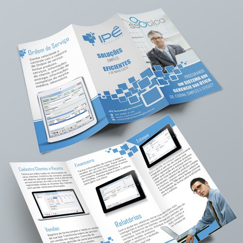 New Brochure Design For 'IPE Tecnologia' With Clean Style
