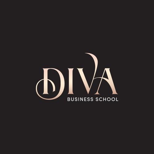 luxury brand logo for powerful and feminine women entrepreneurs.