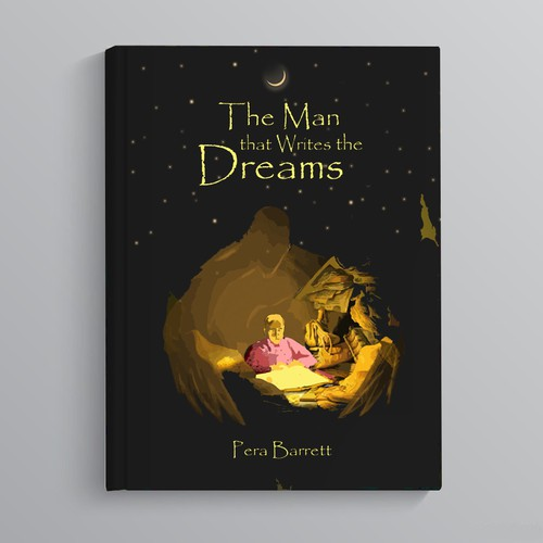 Book cover needed for fantasy novel: The Man That Writes the Dreams