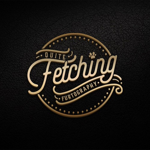 Modern Script Typography Logo for Quite Fetching Furtography