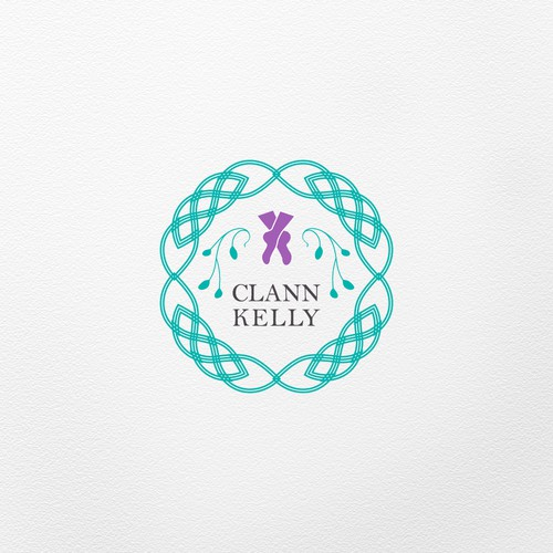 First version of the logo concept for an Irish dance school