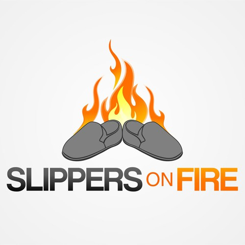 Design a fun logo for Slippers On Fire
