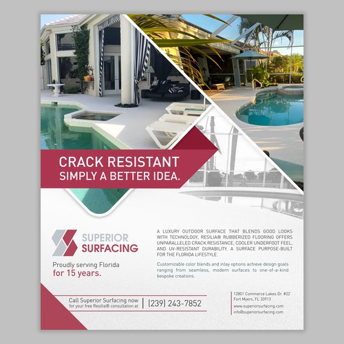 Superior Surfacing Magazine Flyer