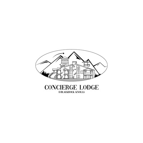 Logo concept for luxurious lodge