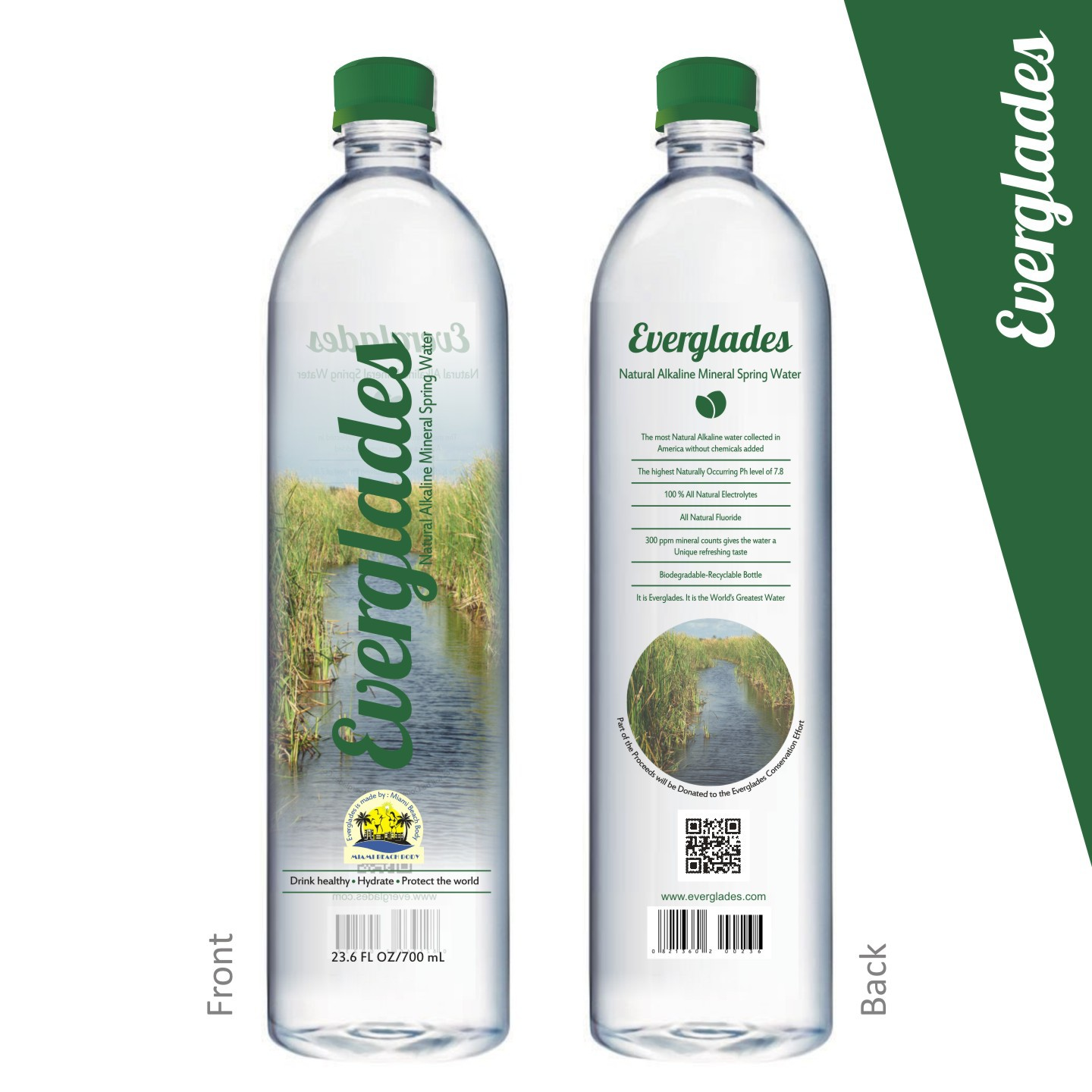 Attractive but Simple Water Bottle Label for an Environmental Brand