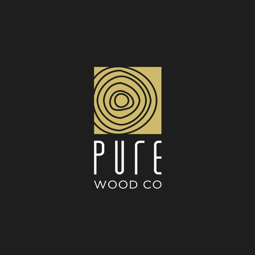 Clean design for a wood company