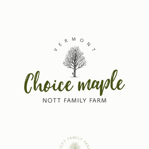 Logo design for 'Choice Maple' of Nott Family Farm - maple products seller