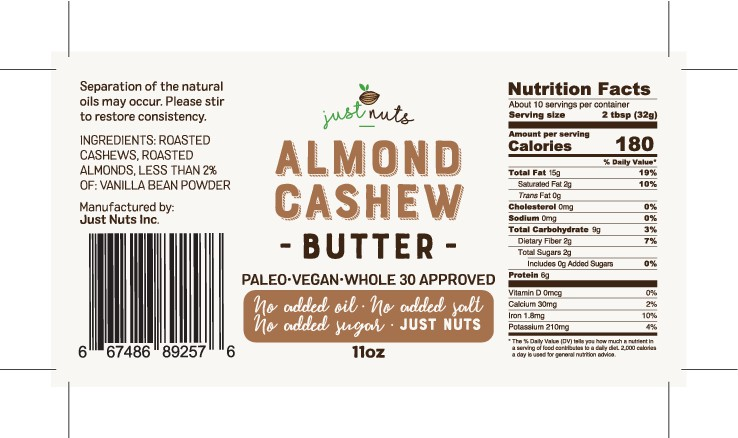 Design a raw/organic label for Almond and Cashew butter containers