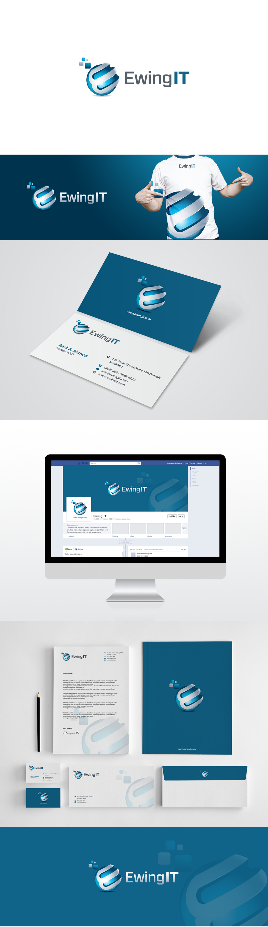 Create a brand for a new professional services IT firm