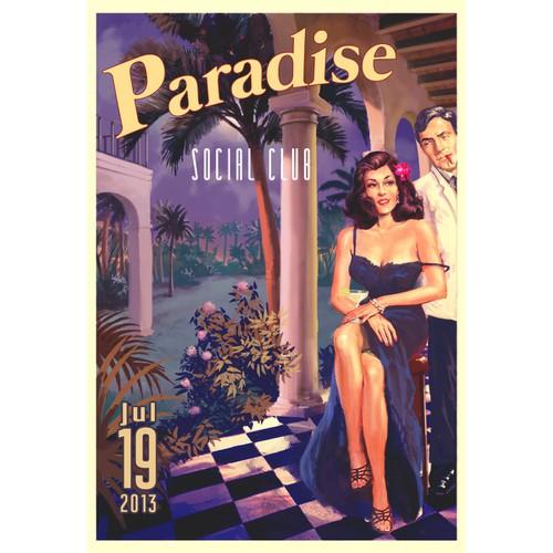 50's Vintage Havana Tourism Poster for Event