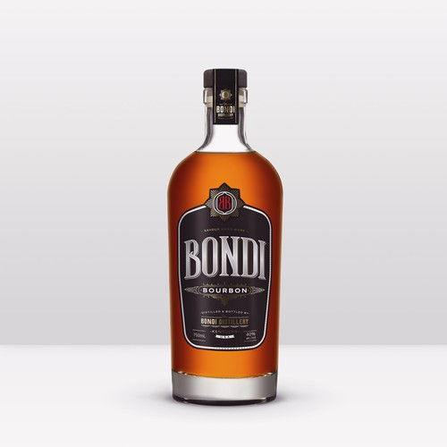 Bourbon label design