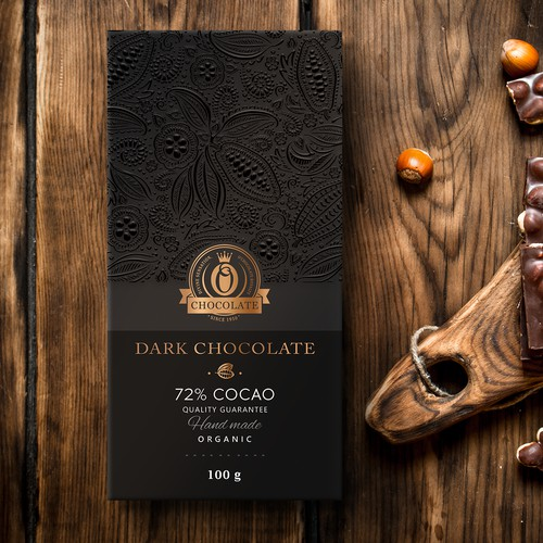 Chocolate bar, packaging design