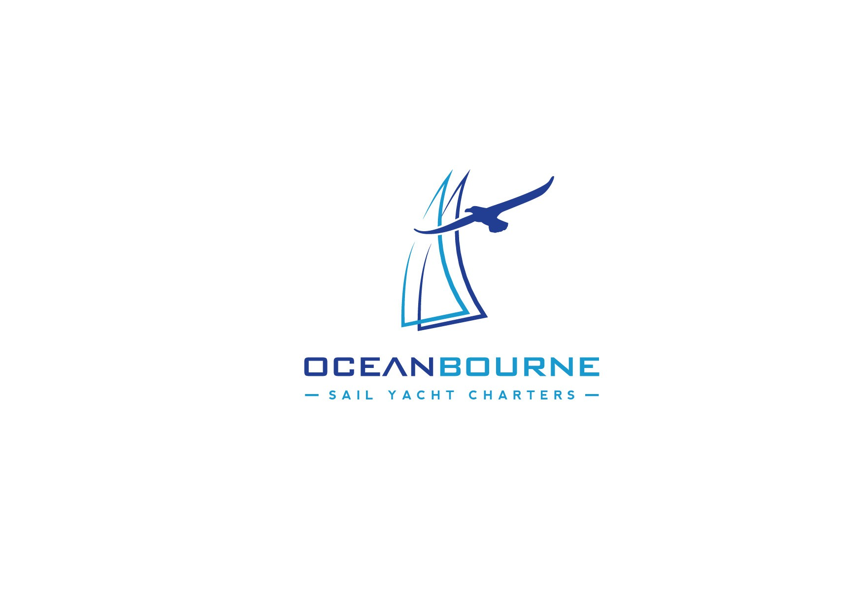 Create a bold simple sailing logo with a cool symbol to make sense of it all