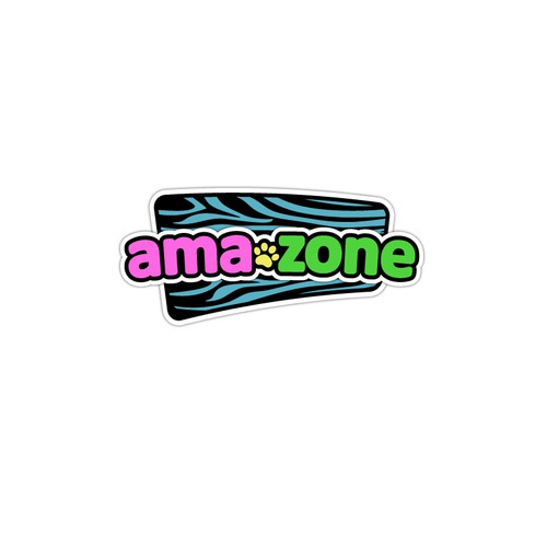 Create a catchy logo for Ama-zone, a jungle inspired kids play area