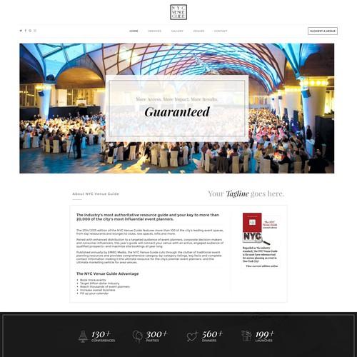 Website design for corporate event planner