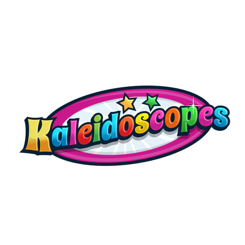 Logo for barbie brand, kaleidoscopes
