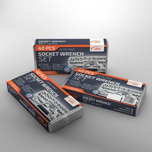 Socket wrench set stunning package design