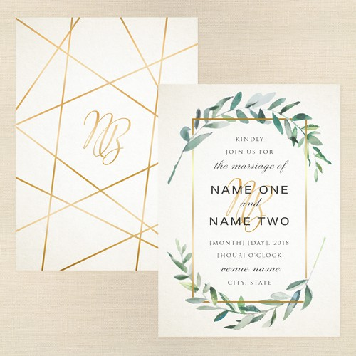 Sleek Modern Invitation