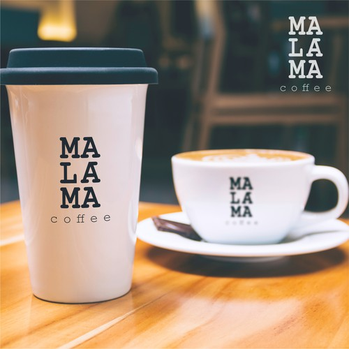 classic logo for malama coffee