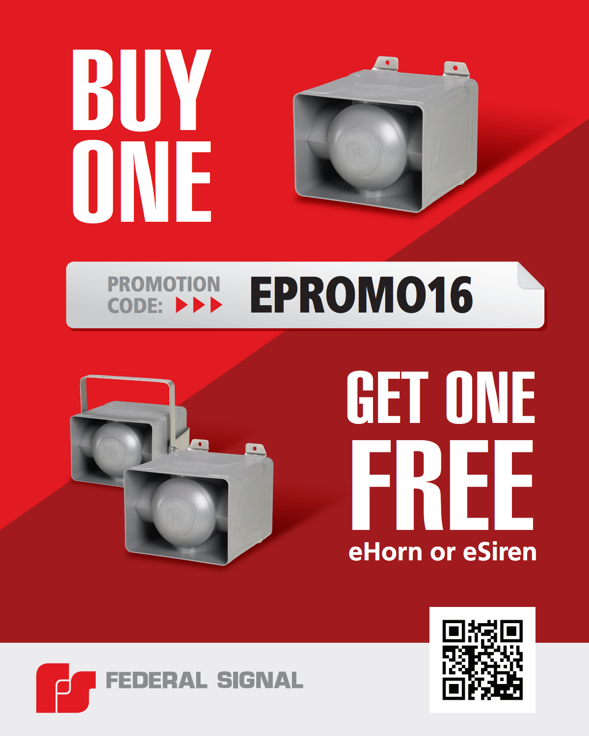 Buy One Get One Free eHorn or eSiren
