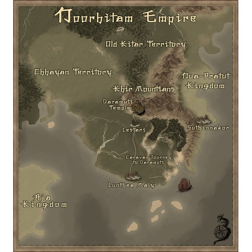 Insert map concept for a fantasy novel.