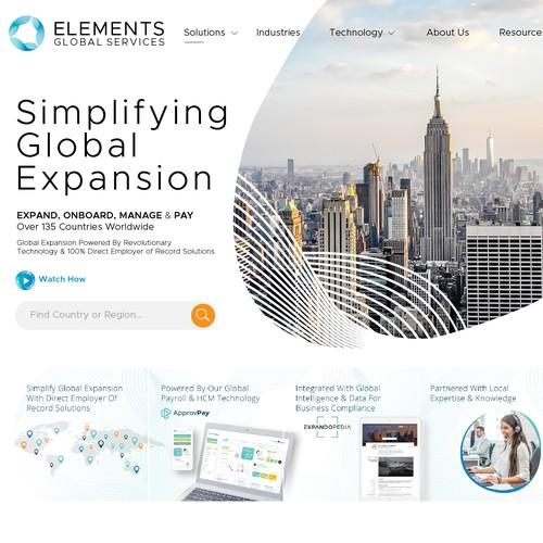 Header Design For Elements Global Services