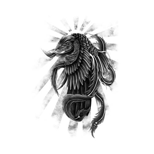 Bird Tattoo Design Artwork