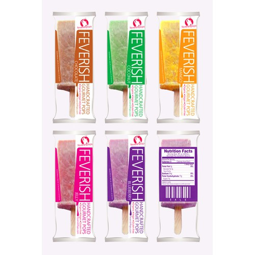 Feverish Handcrafted Gourmet Pops needs a new packaging or label design