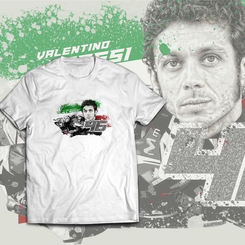 Valentino Rossi tees design