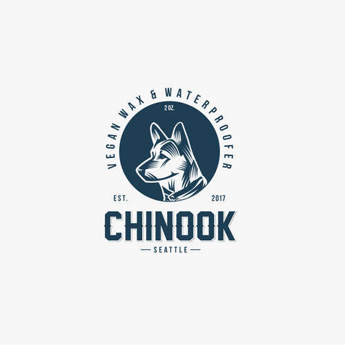 Logo concep for Chinook Vegan wax & waterproofer company.