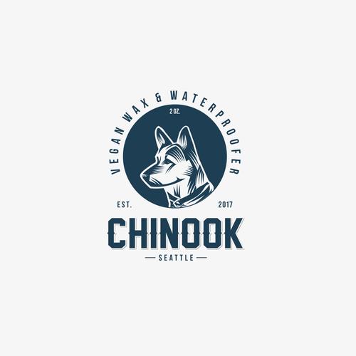 Logo concep for Chinook Vegan wax & waterproofer company.