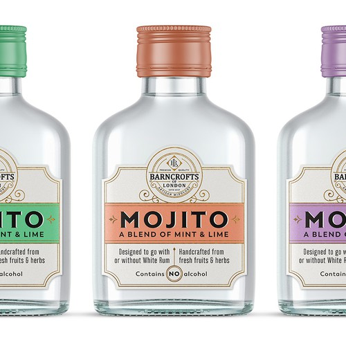 Labels for artisan cocktail mixers