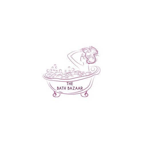 Teen entrepreneur needs cute bubble bath logo
