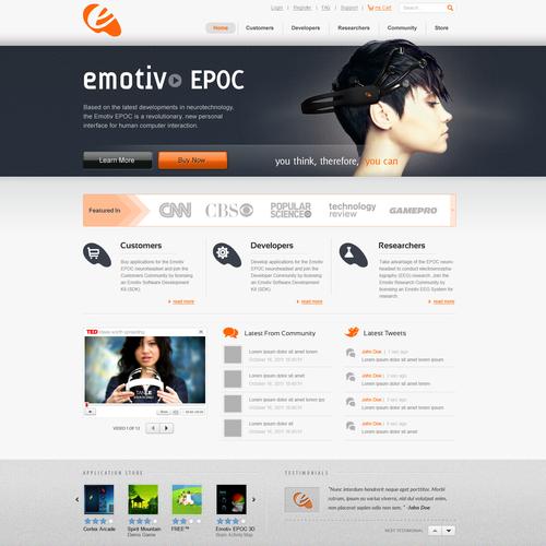 Website for an Award Winning technology company