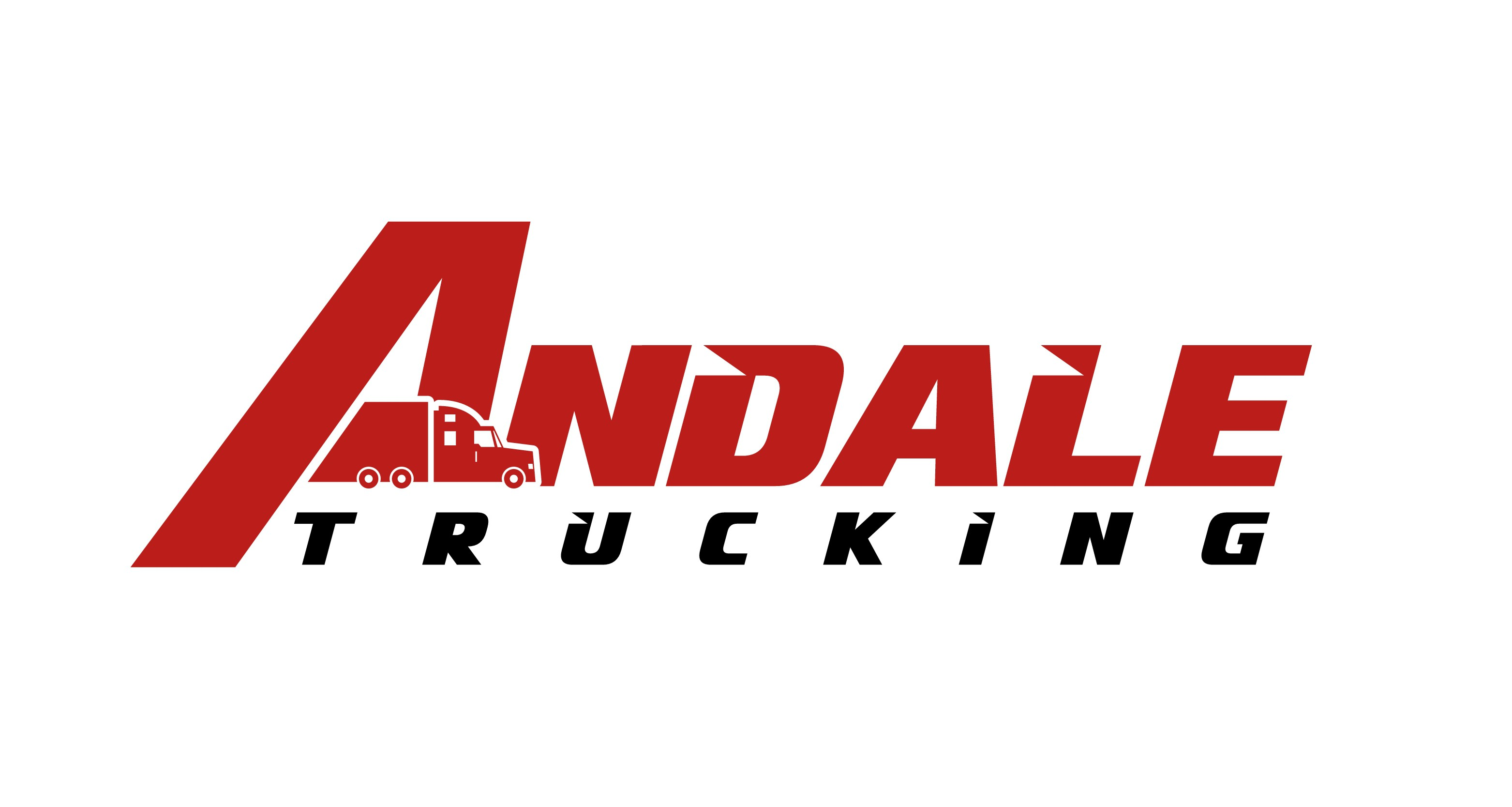 Please create a strong image type logo for Andale Trucking