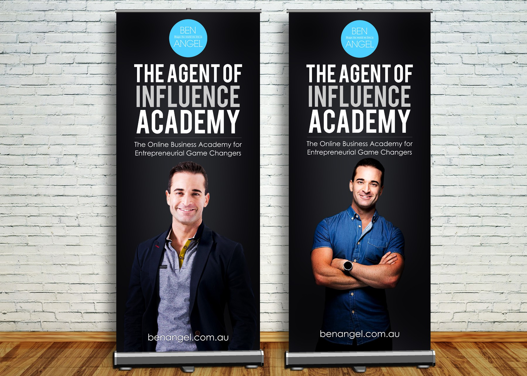 Creating banner design for The Agent of Influence Academy