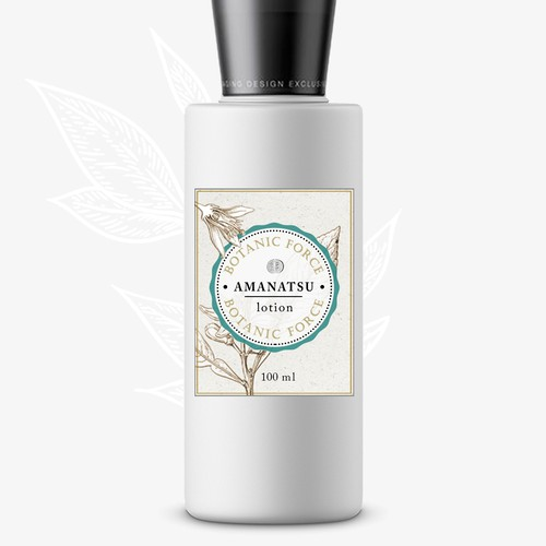 Organic Lotion Label Design