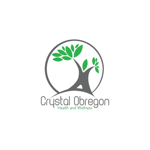 Modern logo for online holistic health business.