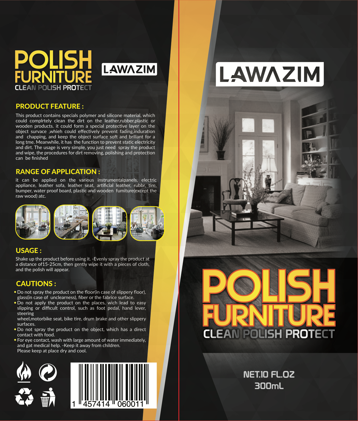 Can design for Cleaning & Polishing Sprays & Party Design Can