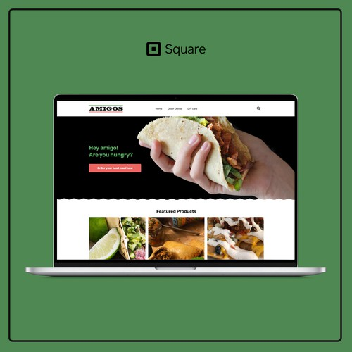 Website for a typical South American restaurant