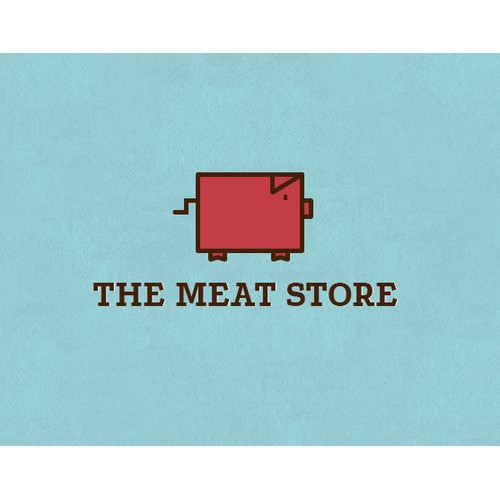 Logo concept for a meat store