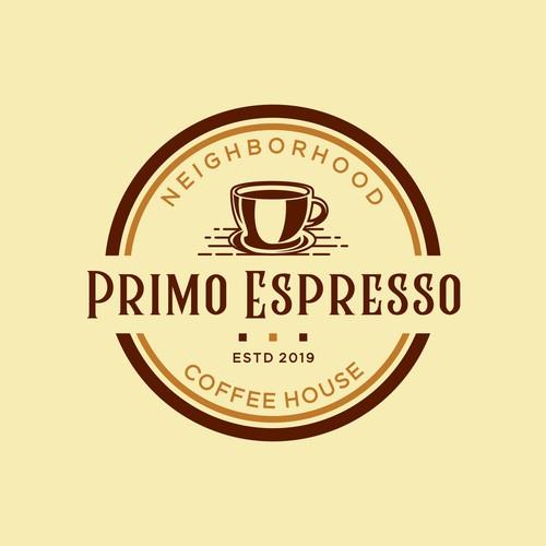 Coffe Shop Vintage Logo Design