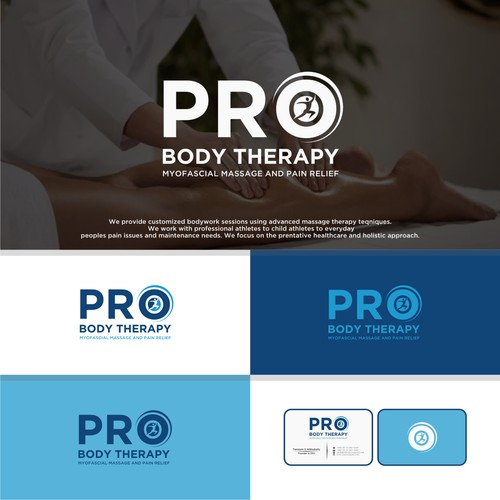 Bold logo concept for PRO BODY THERAPY