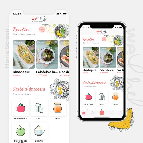 App Concept for Cooking Book