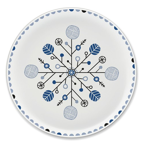 Illustrated plate design with Nordic inspired theme